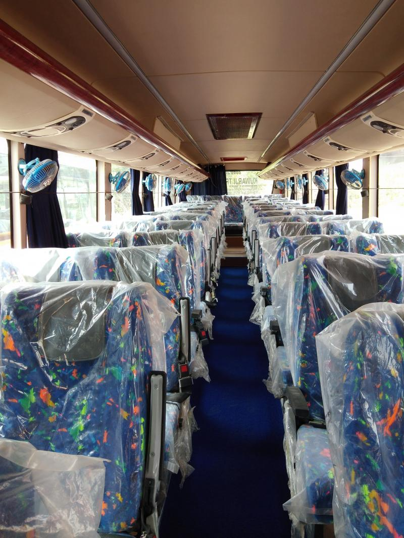 Interior of Kuwarji Buses